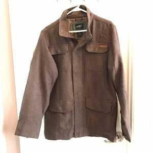 Oneill Men's M Jacket Herringbone Full zip brown